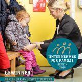 """Berliner Landeswettbewerb """"Unternehmen für Familie"""" 2018"""