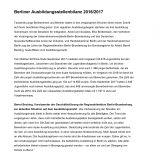 Ausbildungsstellenbilanz 2016/2017
