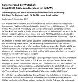 Pressemitteilung zum UVB-Bierabend