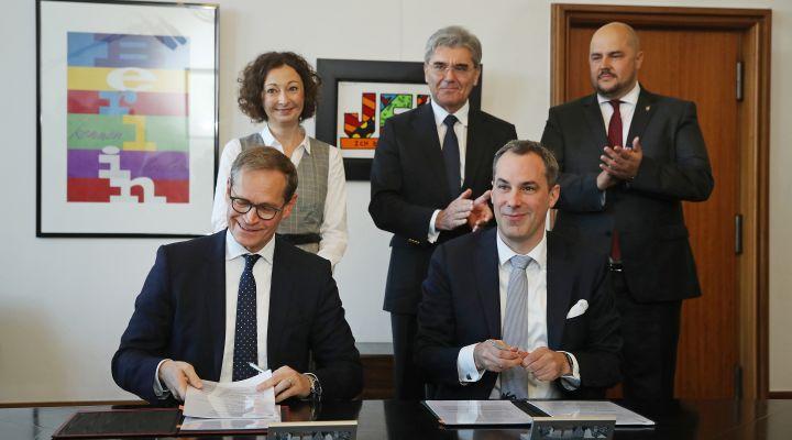 Unterzeichnung Zukunftsakt Siemensstadt