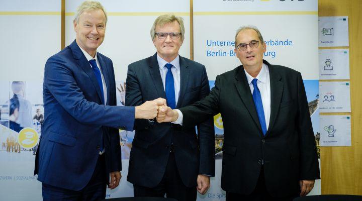 Christian Amsinck, Dr. Frank Büchner, Stefan Moschko, Unternehmensverbände, Berlin, Brandenburg
