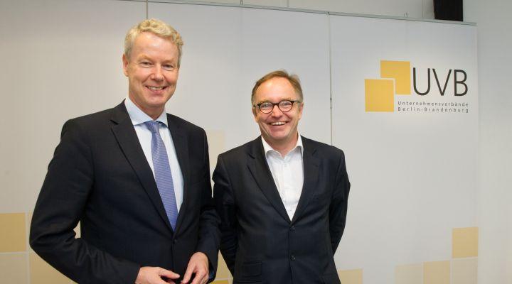 Christian Amsinck (UVB) und Christian Böllhoff (Prognos)