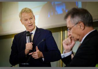 UVB-Hauptgeschäftsführer Amsinck mit BDI-Präsident Kempf