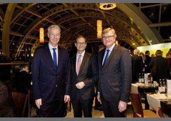 UVB-Bierabend 2019: Christian Amsinck, Michael Müller, Dr. Frank Büchner