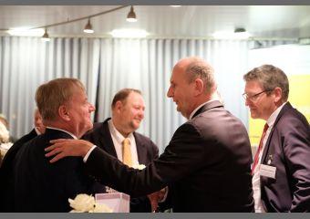 Bernd Becking, Dr. Dietmar Woidke und Christian Hoßbach