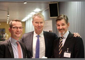 Christian Amsinck mit Sebastian Saule und Dr. Steffen Kammradt