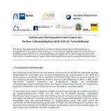 Stellungnahme zum Entwurf des Berliner Luftreinhalteplans 2018-2025