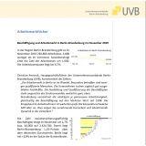 UVB-Arbeitsmarktbericht, Unternehmensverbände, Berlin, Brandenburg, Arbeitsmarktbericht, Arbeitsmarkt, November 2019