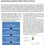 UVB Kompakt zu Länderfinanzausgleich