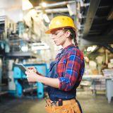 Industrie-Arbeiterin