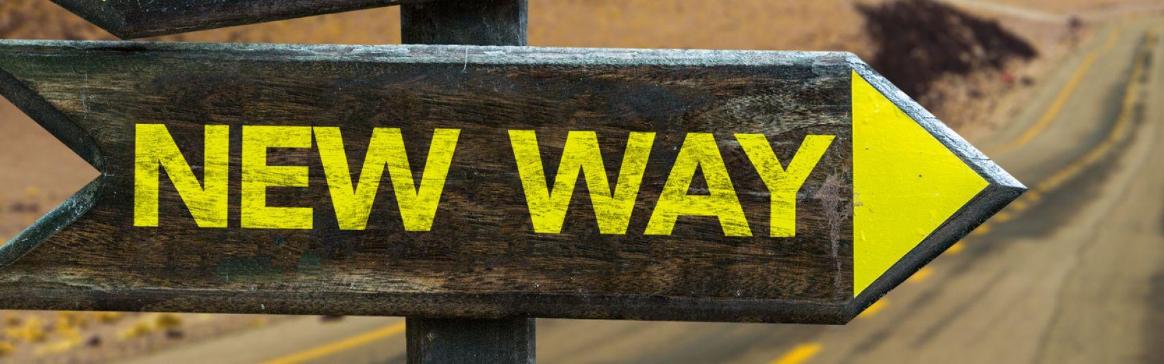 New Way, Wegweiser, Landstraße