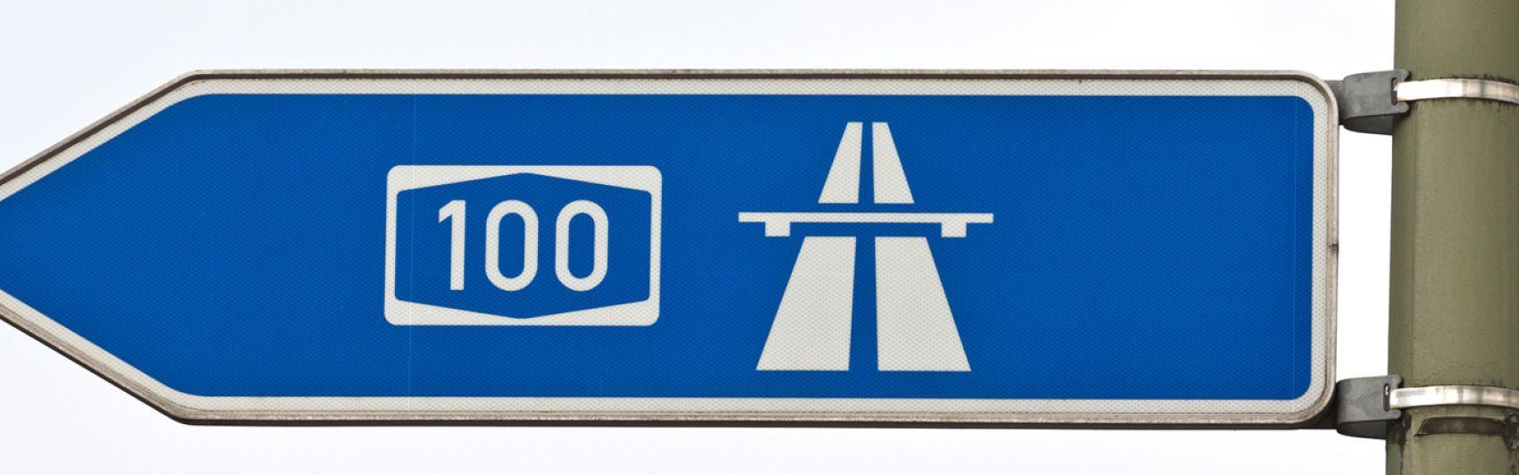 Wegweiser, A100, Autobahn