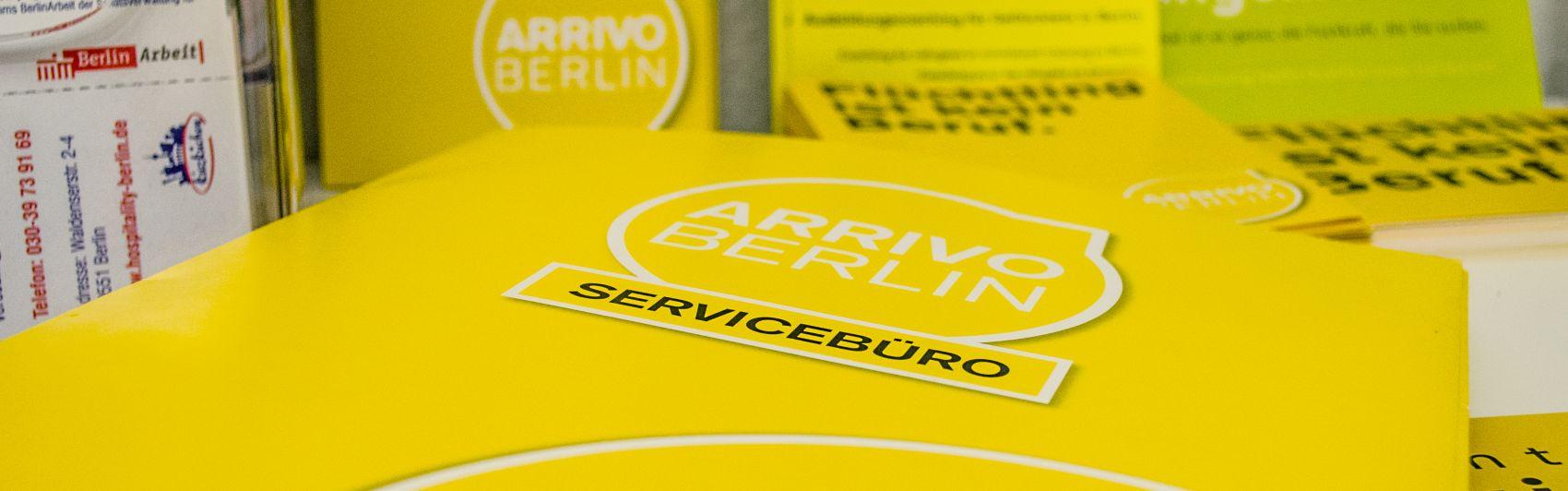 Werbemittel des Arrivo Servicebüros