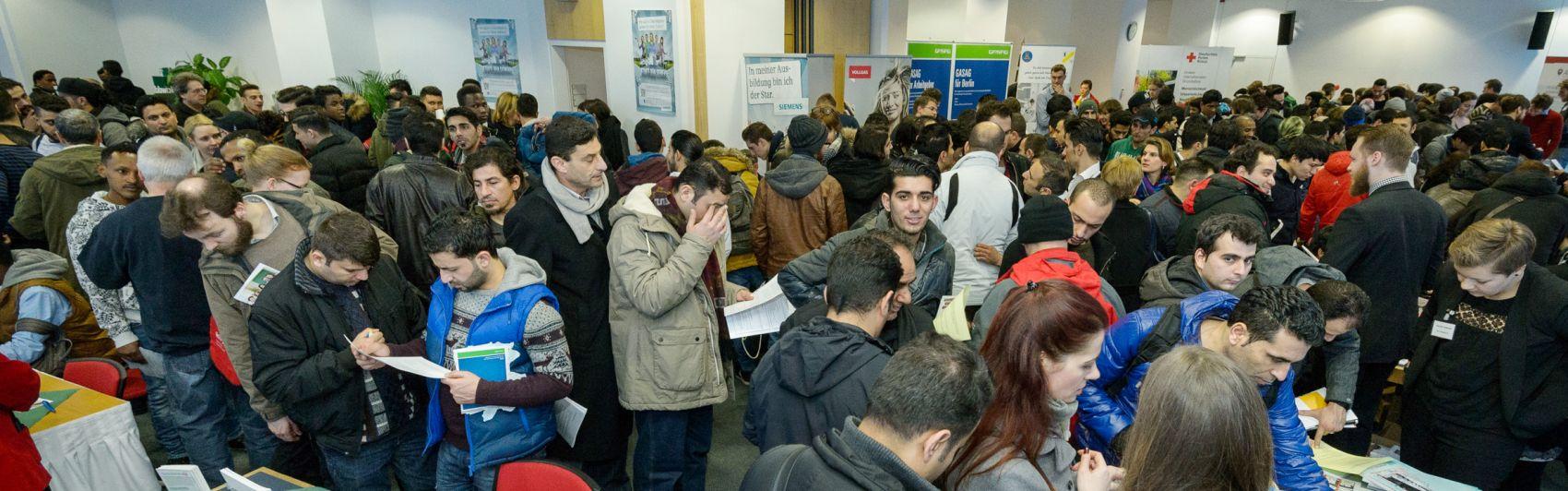 Das Interesse an der Praktika- und Ausbildungsmesse war groß.