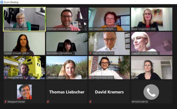 UVB-Personalforum, Online-Erzählsalon, Screenshot